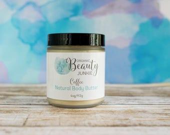 Body Butter - Natural Body Butter - Organic  Body Butter - Natural Coffee Body Lotion - Coffee Body Lotion - Natural  Body Cream