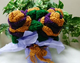 Crocheted rose boquet