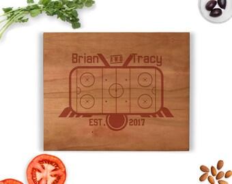 Hockey cutting board, Hockey gift, Engraved Cutting Board, Established Cutting Board, Personalized hockey gift, Hockey team gift, wedding