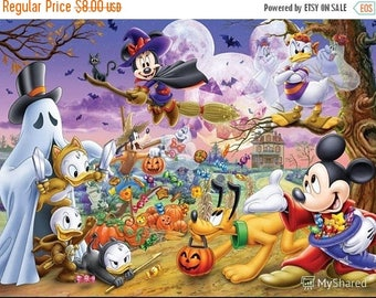 "Disney friends needlecraft, Counted Cross Stitch Pattern,  modern cross stitch, needlepoint - 21.64"" x 15.86"" - L1401"