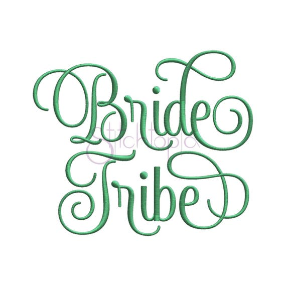 Bride tribe embroidery design sizes formats wedding