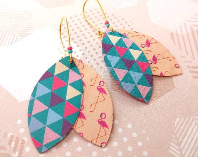 Stud Earrings geometric shuttles Flemish triangles