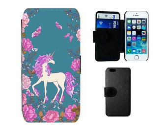Unicorn phone case, Wallet flip for iPhone 6S 6 X 8 7 Plus SE 5S 5C 5 4S, Samsung Galaxy Wallet S8 Plus, S7 S6 Edge, S4 S5 Mini cover. F378