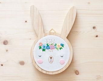 EMBROIDERY WALL ART. Bunny