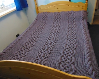 Handknitted Cable Blanket
