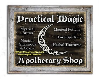 PRINT at HOME: Practical Magic Apothecary Shop, INSTANT Digital Download