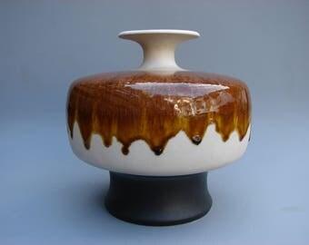 Hutschenreuther Renée Neue UFO vase Mid Century Modern Space Age Pop art vase