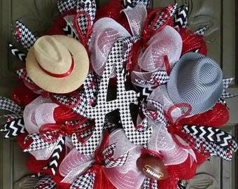 On Sale Alabama Crimson Tide deco mesh wreath