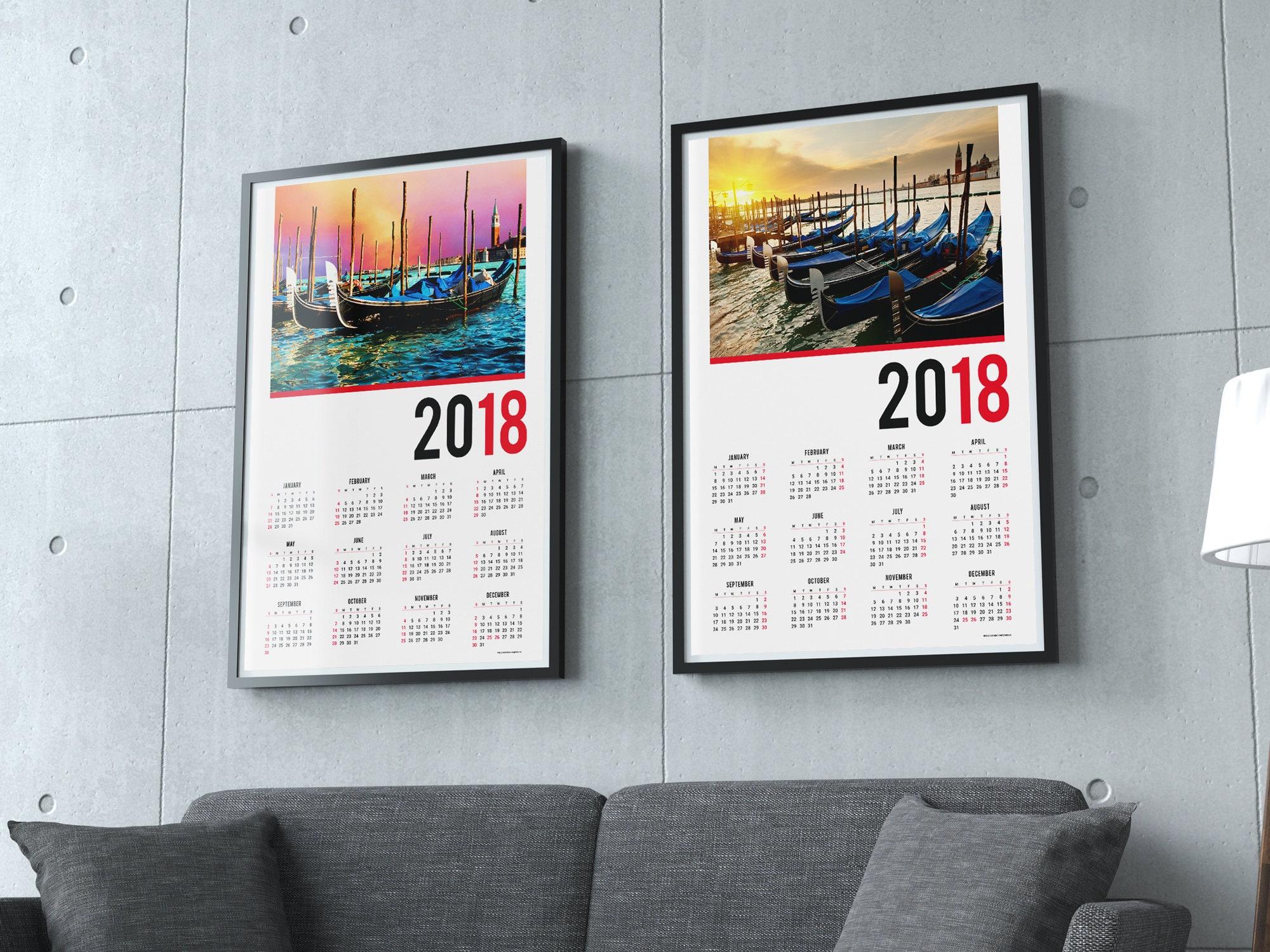 Calendar Poster Design : Poster wall calendar template kjp w pdf format size