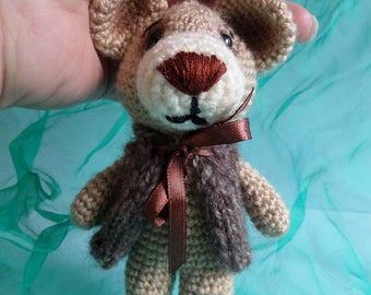Amigurumi toy,Crocheted toy,Amigurumi pendant-teddy,bear,gift idea,for children,handmade