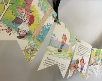 Raggedy Ann and Andy vintage book page banner bunting garland decoration