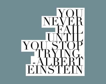 Quote magnet- Albert Einstein