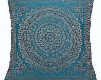 "Indian handmade mandala cushion covers 16"" 40 cms handmade bohemian hippie Mandala"