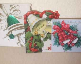 Vintage  Bell Christmas cards , lot
