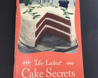 Vintage, The latest Cake Secrets, General Mills Corp.  copyright 1934