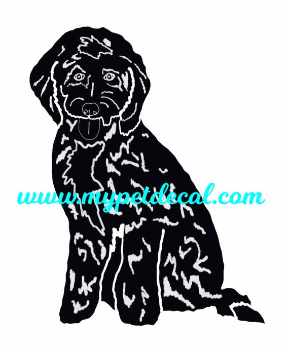 GOLDENDOODLE decal for cars, laptops, devices etc | FREE shipping
