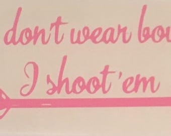 Girls Shoot Bows Decal