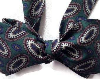 Silk Bow Tie  for Men - Dagwood - One-of-a-Kind, Handcrafted - Self-tie - Free Shipping
