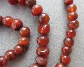 Round Carnelian Stone Beads [66897]