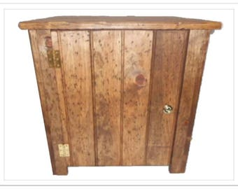 Wood End Table Night Stand Hidden Compartment