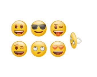 Emoji Rings, Emoticon Rings