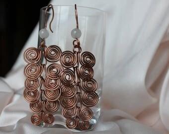 Spiral Copper Earrings