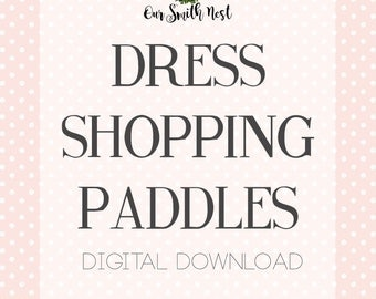 Printable Say YES To The Dress Paddles - Wedding Dress Shopping Signs