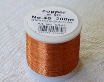 Madeira Metallic # 40 collar copper