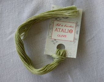 Embroidery FLOSS stranded Olive colour ATALIE