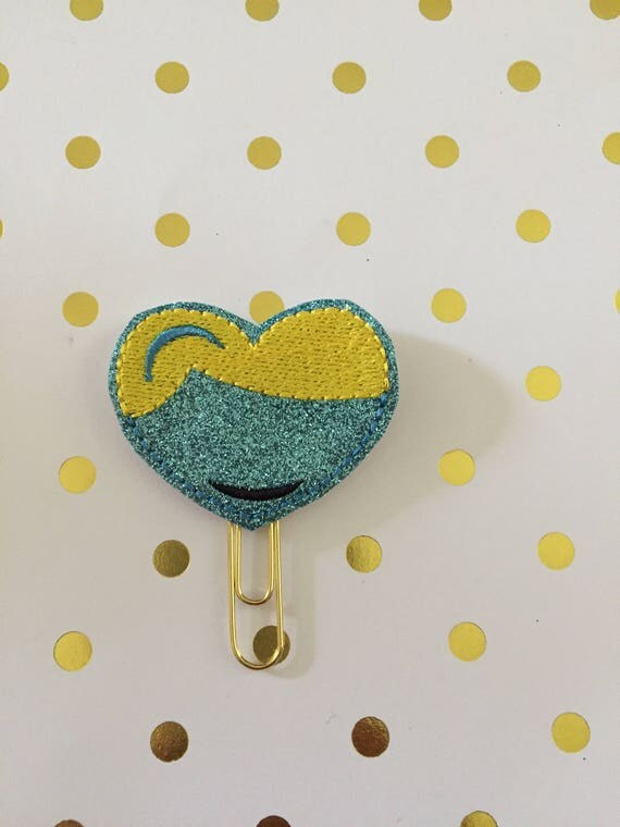 Glitter Cindy heart planner Clip/Planner Clip/Bookmark.Princess planner clip. Princess heart feltie
