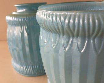 Blue Opalescent Glass Lamp Shade