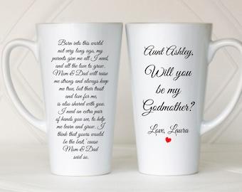 Will you be my Godmother, Asking Godmother, Godmother invitation, Godmother to be, Ask Godmother, Godmother mug, Godmother gift, Baptism