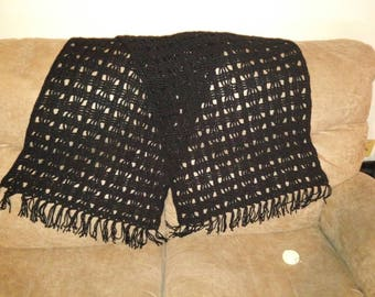 Black rectangle shawl