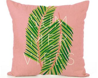 Pink Summer Vibes Pillow Cover
