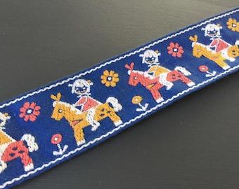 German Vintage Ribbon: Horse 5 cm x 100 cm/1 yard