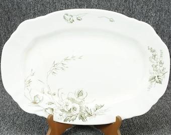 """Vintage John Edwards 172136 Porcelain 14"""" Oval Platter"""