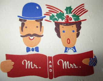 Christmas Card - Mr. and Mrs. Send you the Season's Greetings.  UNUSED with envelope
