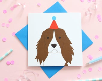 Birthday Springer Spaniel Cards