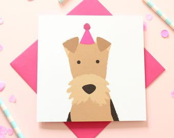Airedale Birthday Card