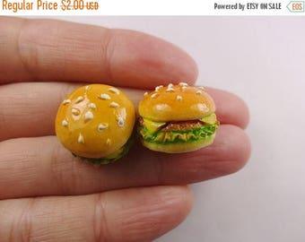 ON SALE 4pcs Kawaii resin hamburger cabochon for phone decoden