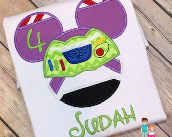 Buzz Lightyear Mouse Head Inspired Shirt, Disney Vacation, Personalized Buzz Lightyear Mousehead Shirt, Buzz Lightyear Space Ranger Shirt
