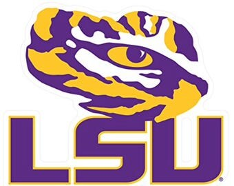 LSU Tigers Premium XL Die-Cut Vinyl  Decal, Tiger Eye/ LSU, Cornhole