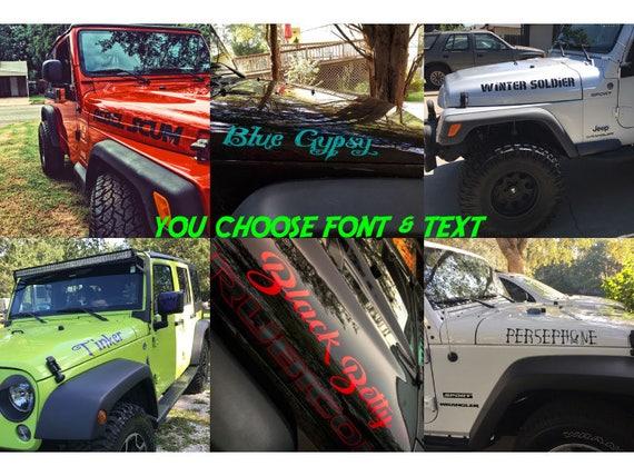Custom Jeep Hood Decals Satu Sticker - Custom vinyl decals for car hoodscustom hood decals etsy