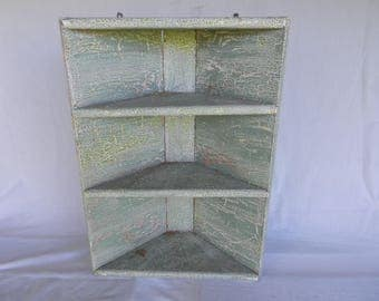 Corner Hutch, Shabby Country Chic, Corner Cabinet, Rustic and Chippy, Old Corner Cabinet