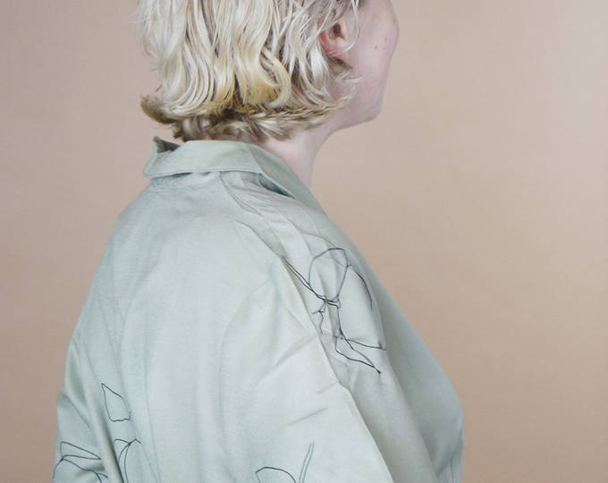 mint clementine short sleeve blouse