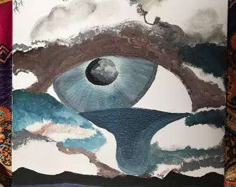 Eye waterfall painting