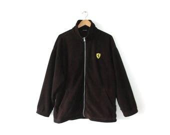 Rare retro Ferrrari fleece jacket