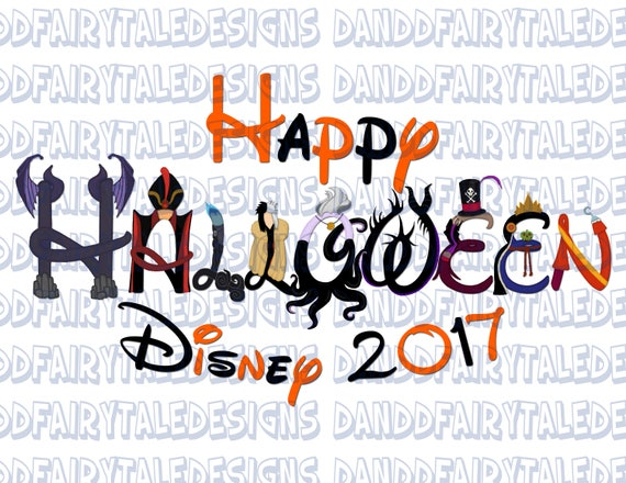happy halloween disney disney villain themed digital art letters printable diy iron on instant download from on etsy studio