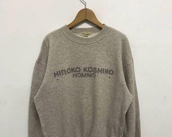 BIG SALE Vintage Hiroko Koshino Homme Sweatshirt/Hiroko Koshino Shirt/Hiroko Koshino Pullover/Designer Shirt