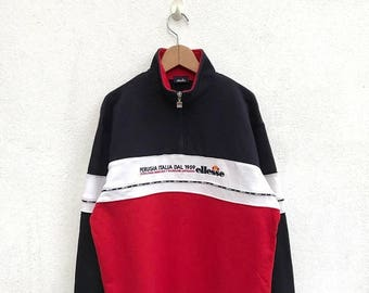 20% OFF Vintage Ellesse Half Zipper Pullover Sweater/Casual Shirt/Ellesse Sweater/Ellesse Tennis Shirt/Ellesse Sportwear/Ellesse Pullover